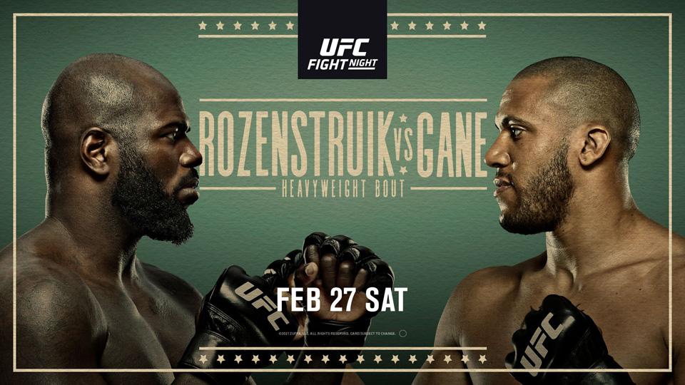 UFC格斗之夜:罗森斯特鲁克 VS 盖恩赛事前瞻